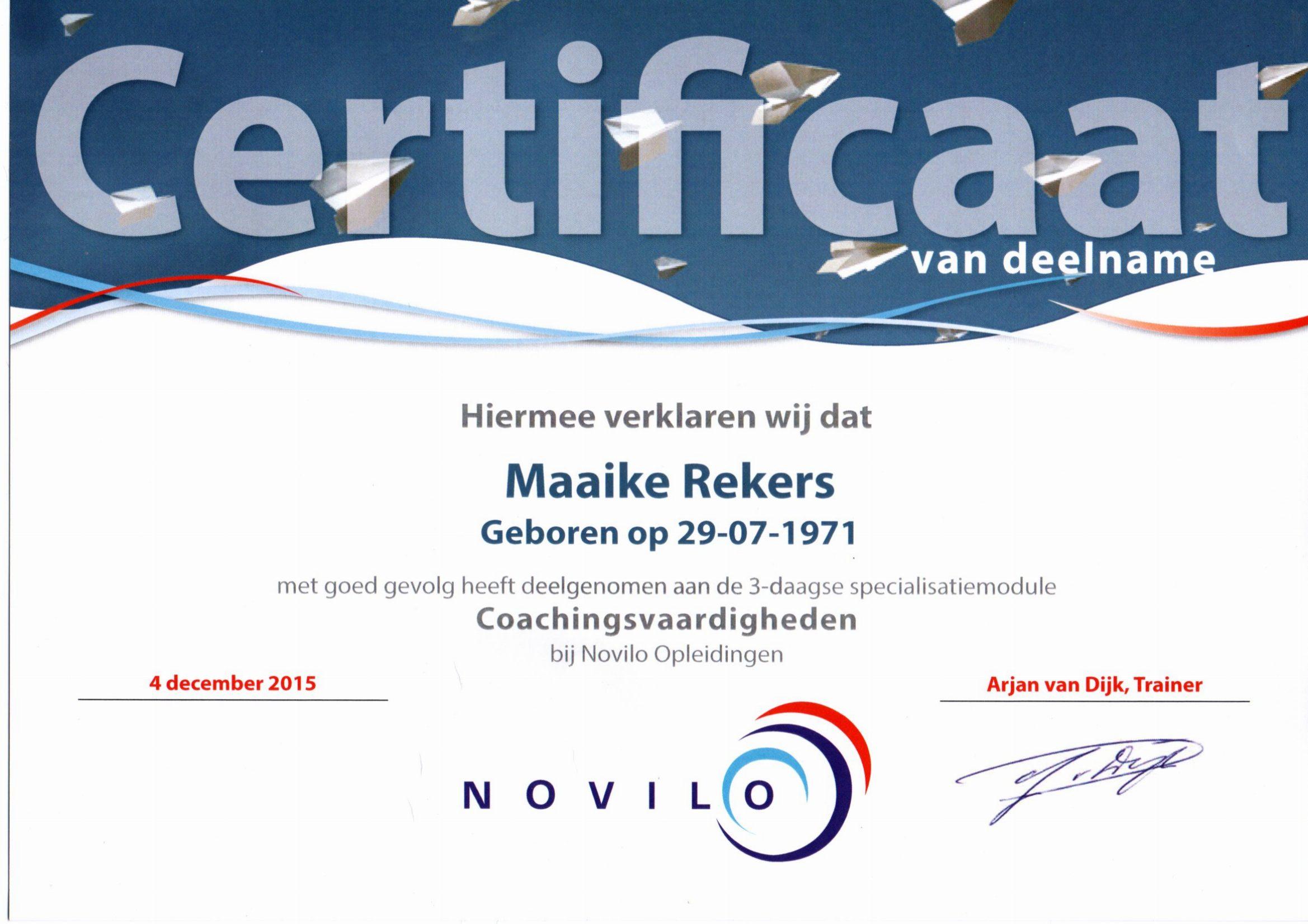 coaching vaardigheden Novilo
